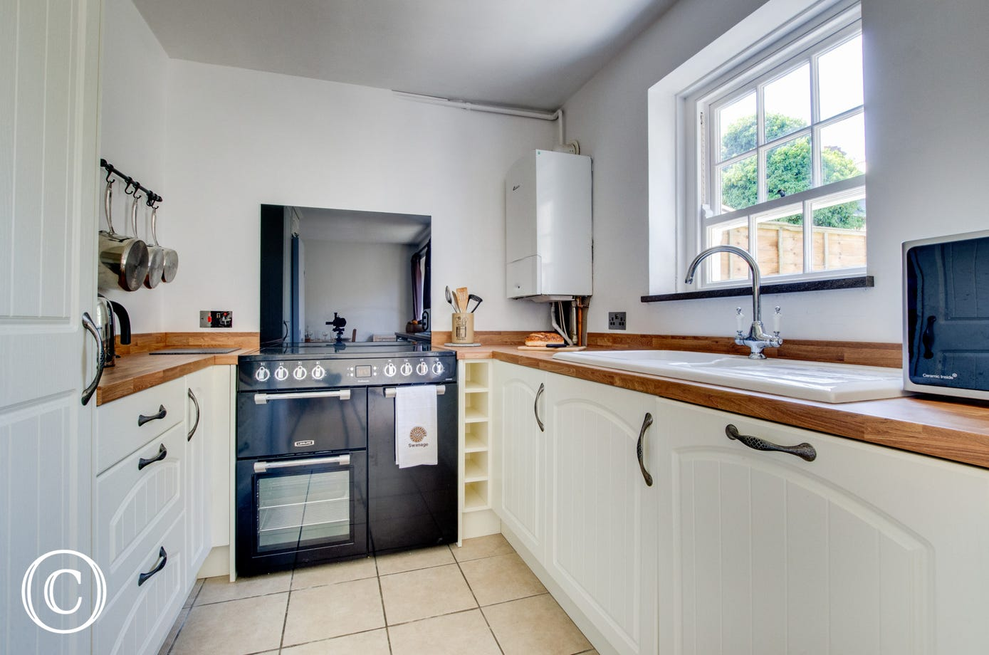 Newly renovated kitchen with Range cooker