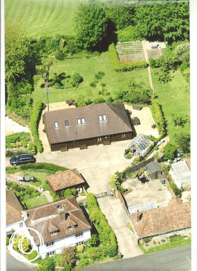 Barn End and Old Barn - Aerial shot 2015
