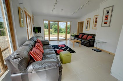 Stylish and very comfortable sitting room with sustainable energy efficiency