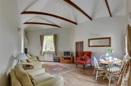 The high vaulted ceilings give a wonderful sense of space.