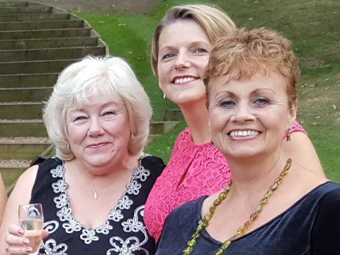 Lorraine (far left) with colleagues Sally and Carole