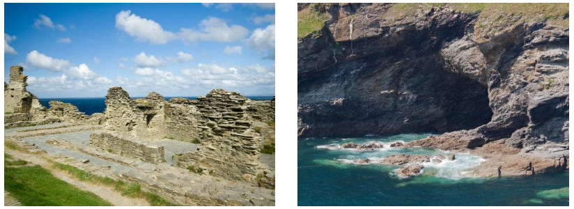 Tintagel Castle Ruins|Merlin's Cave