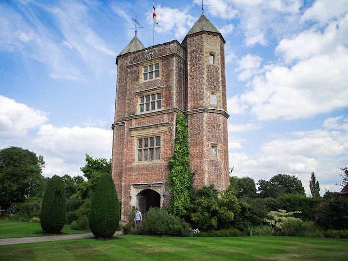 Sissinghurst garden tower
