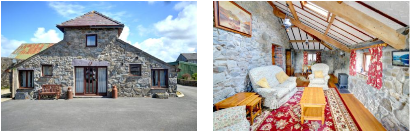 The Granary - Caernarfon, Wales|The interior features exposed stone walls