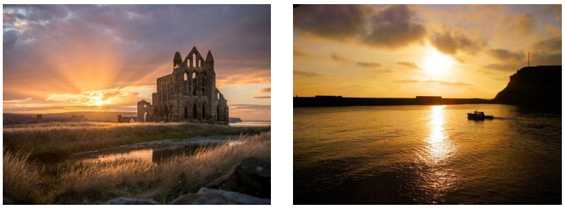 Whitby Abbey | Yorkshire Harbour Sunset