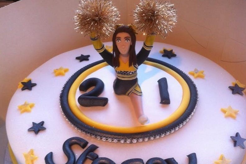 A personalised birthday cake