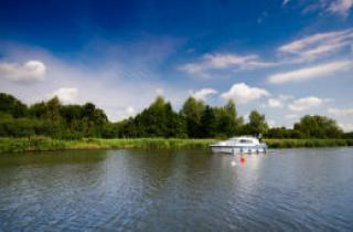 A boat on the Norfolk Broads