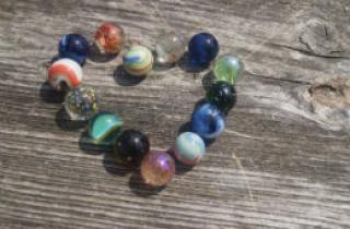 Marbles in the shape of a heary