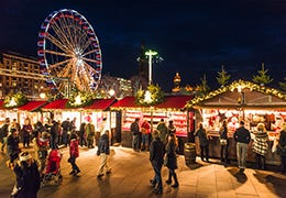 A bright and festive Christmas Market
