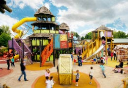 Kids theme park with slides