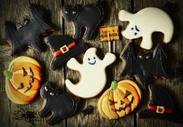 A selection of Halloween themed biscuits