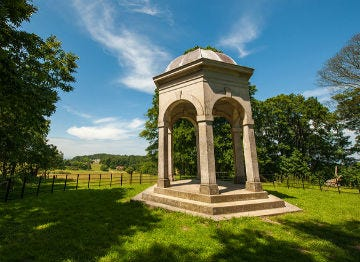 The monument at Sheringham Park near Sheringham