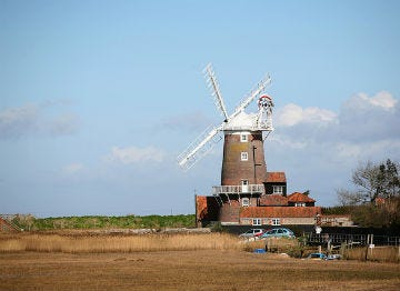 The iconic windmill at Cley on the North Norfolk coast