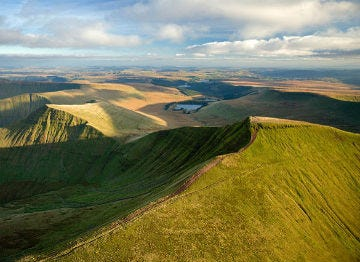 The splendid Brecon Beacons in South Wales