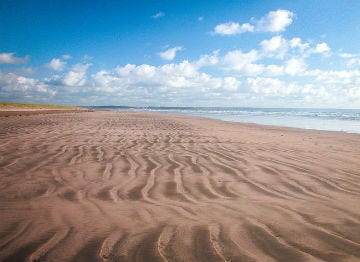 The vast open sands of Braunton beach