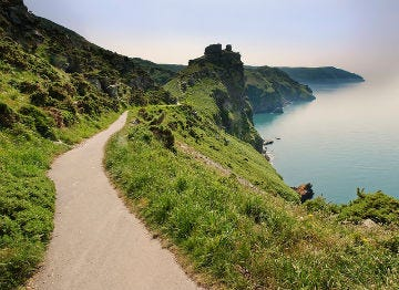 The green cliff tops at Lynton, North Devon