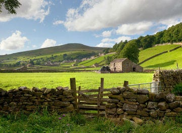 A rural setting near Richmond in the Yorkshire Dales
