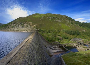 Reservoir in the Elan Valley