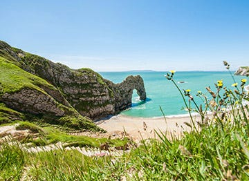 A beautiful bay on the Dorset coast