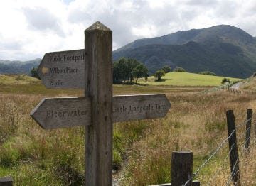 Footpaths from Elterwater are well signposted so you can explore the valley