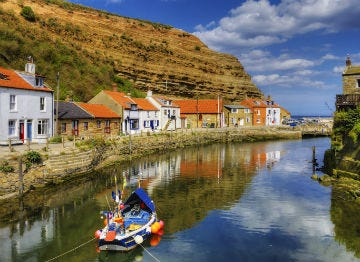 Staithes harbour on the north Yorkshire coast