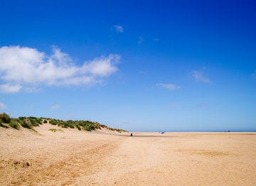 The beauty of Holkham beach lies in the space if offers to visitors
