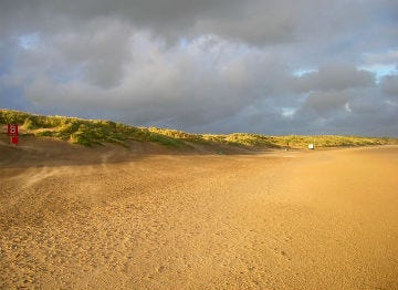 Camber Sands in Sussex is perfect for barefoot strolls